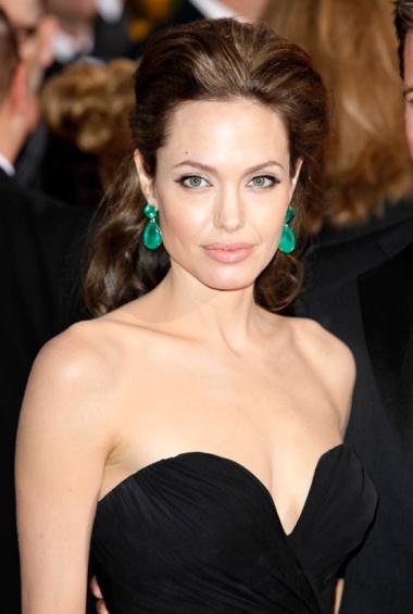 Angelina Jolie at the 2009 Academy Awards thegloss.com