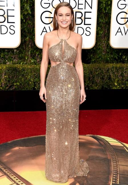 Brie Larson wearing custom Calvin Klein