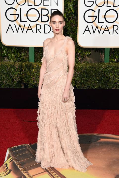 Rooney Mara wearing Alexander McQueen
